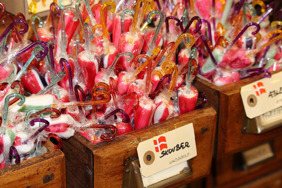 Candy, Danish Sweets, Sweet, Delicious, Lollipop