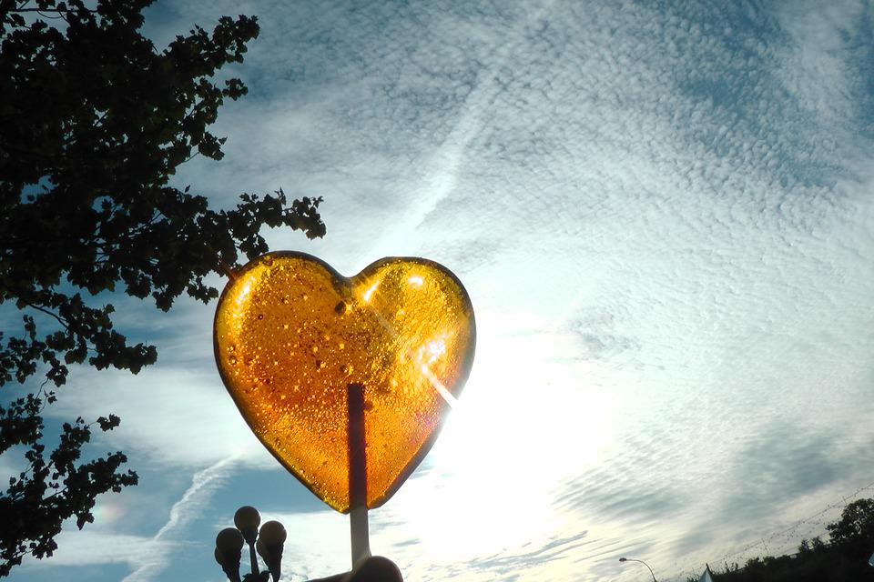 Nature, Sky, Heart, Lollipop, Sun