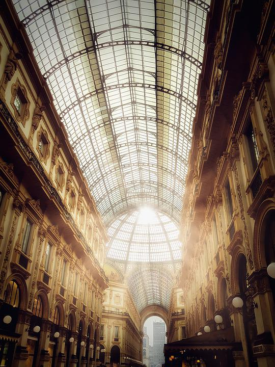 Gallery, Milan, Italy, Architecture, Lombardy