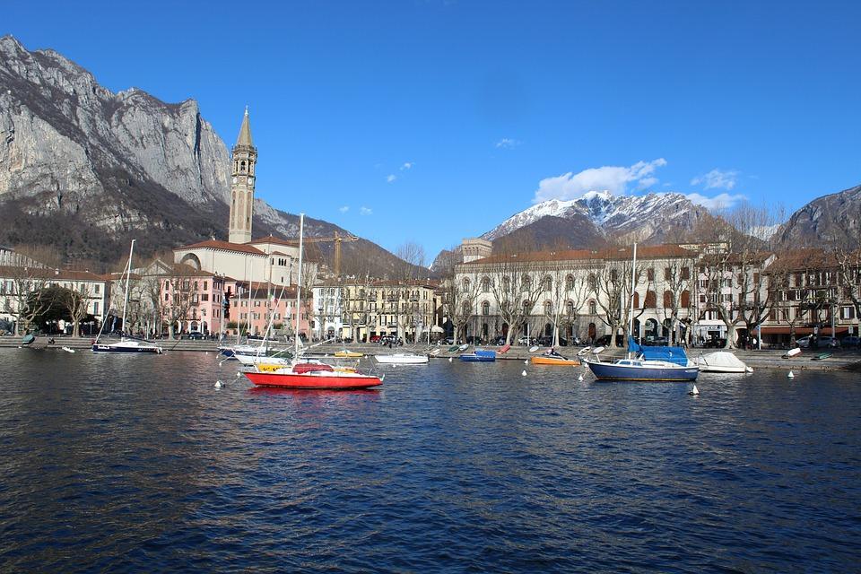 Lecco, Panorama Di Lecco, Lake Como, Lombardy, Italy