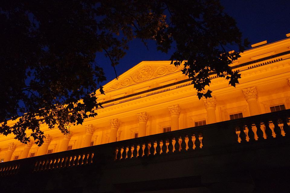 London, Summer, View, Building, Facade, Night