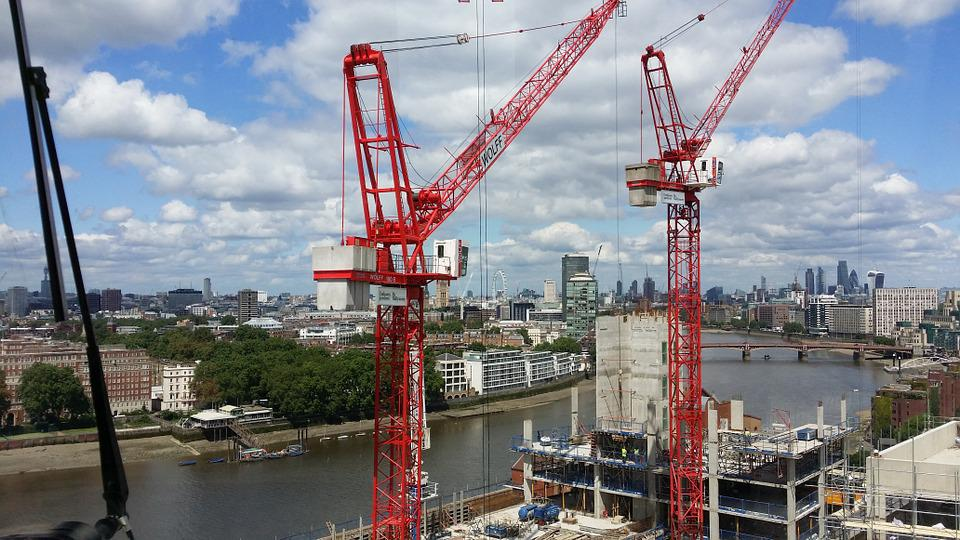 Tower, Crane, London, Construction, Cityscape