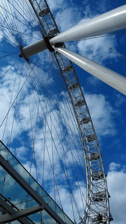 London, London Eye, England, Air, Skies, Cloud, Clouds