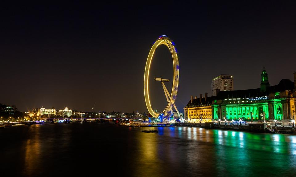 River Thames London Eye England Landmark Famous