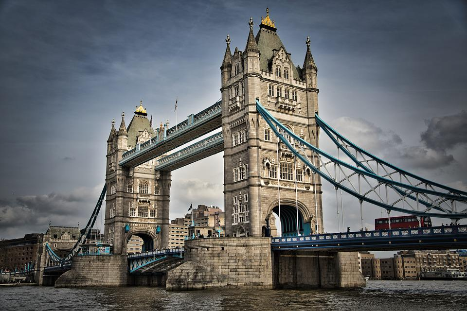 England, Tower Bridge, London, Architecture, Famous, Uk