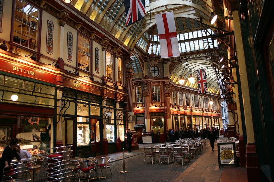 Leadenhall Market, London, Market, England, Uk
