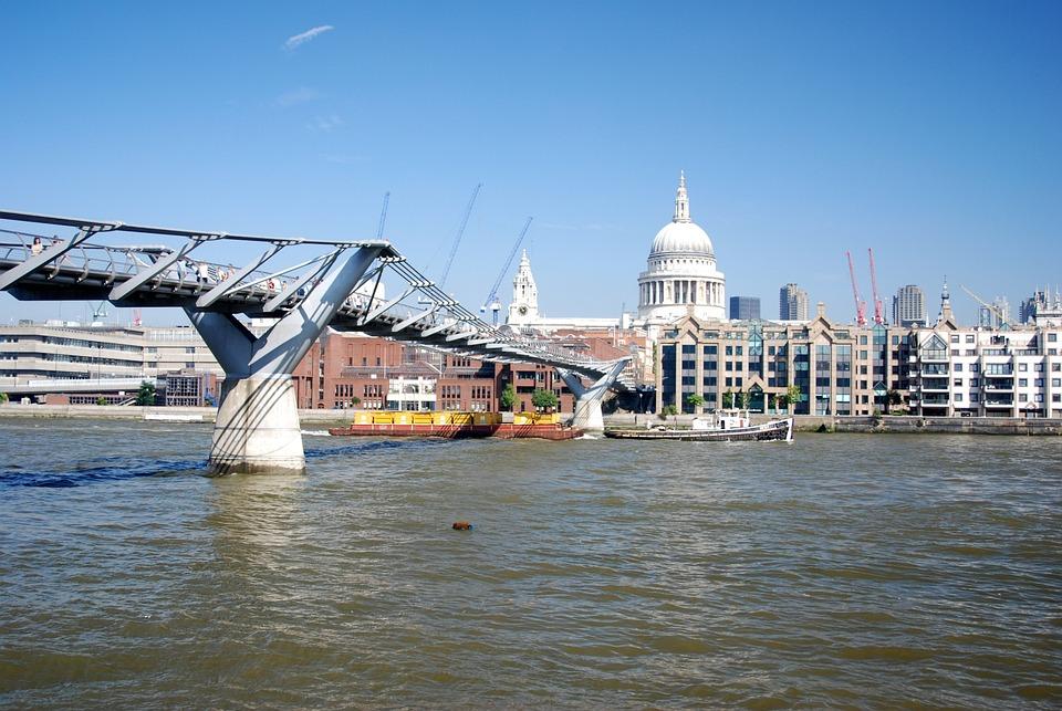 Millennium, London, River Thames, St Pauls Cathedral