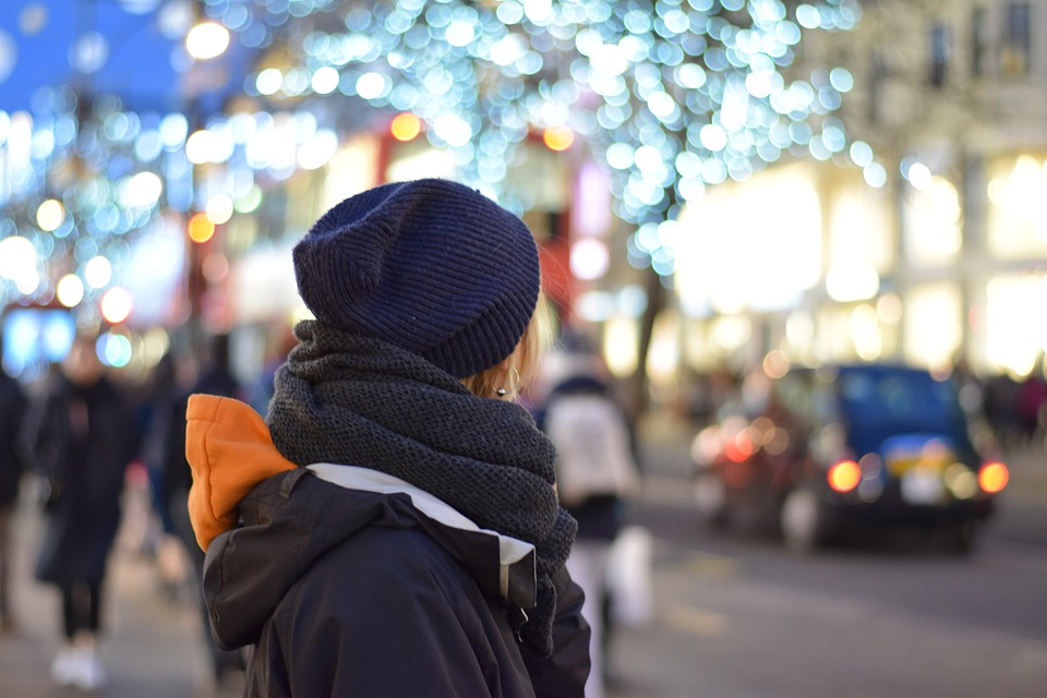 Street, City, Road, People, Urban Space, London, Winter