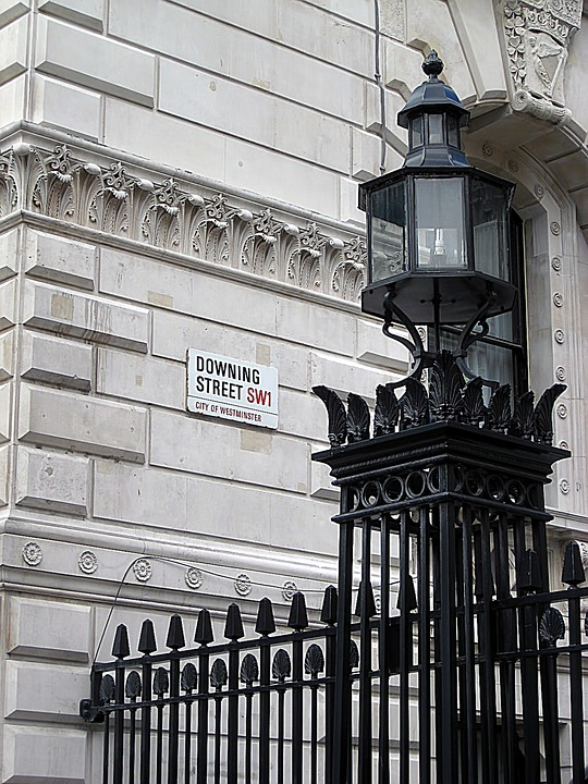 Nameplate, Street, Downing, London