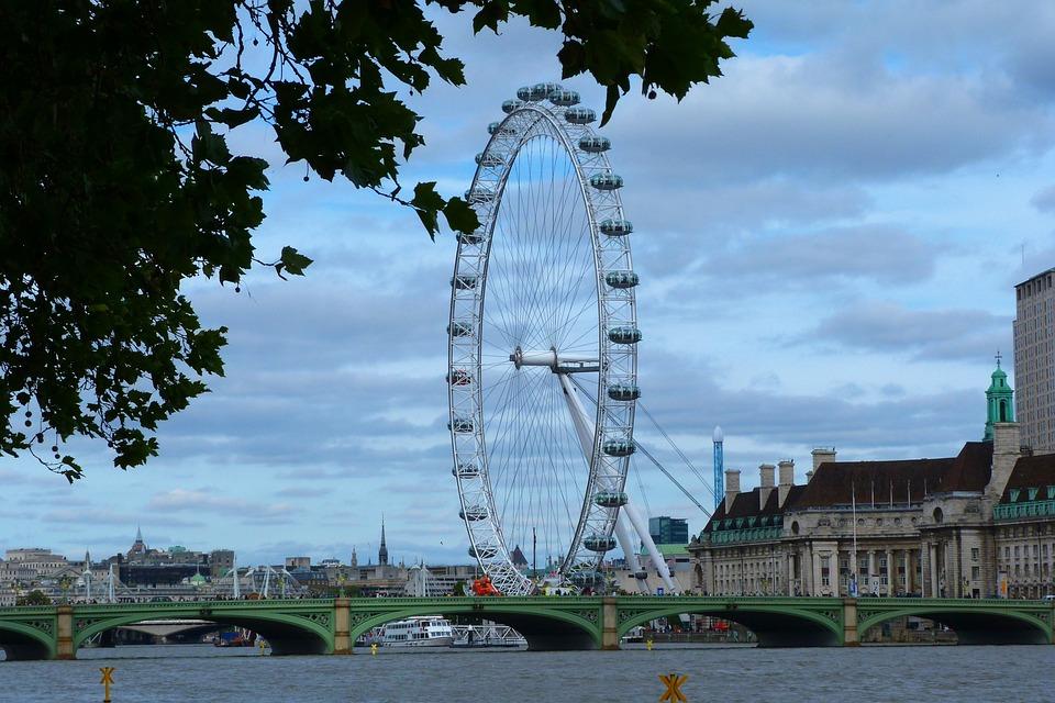 London, Eye, Attraction, Landmark, River, Thames