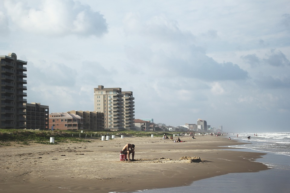 Beach, Ocean, Loneliness, Depression, Cloudy, Hotel