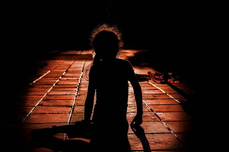 Girl, One, Shadow, Loneliness, Darkness, Women