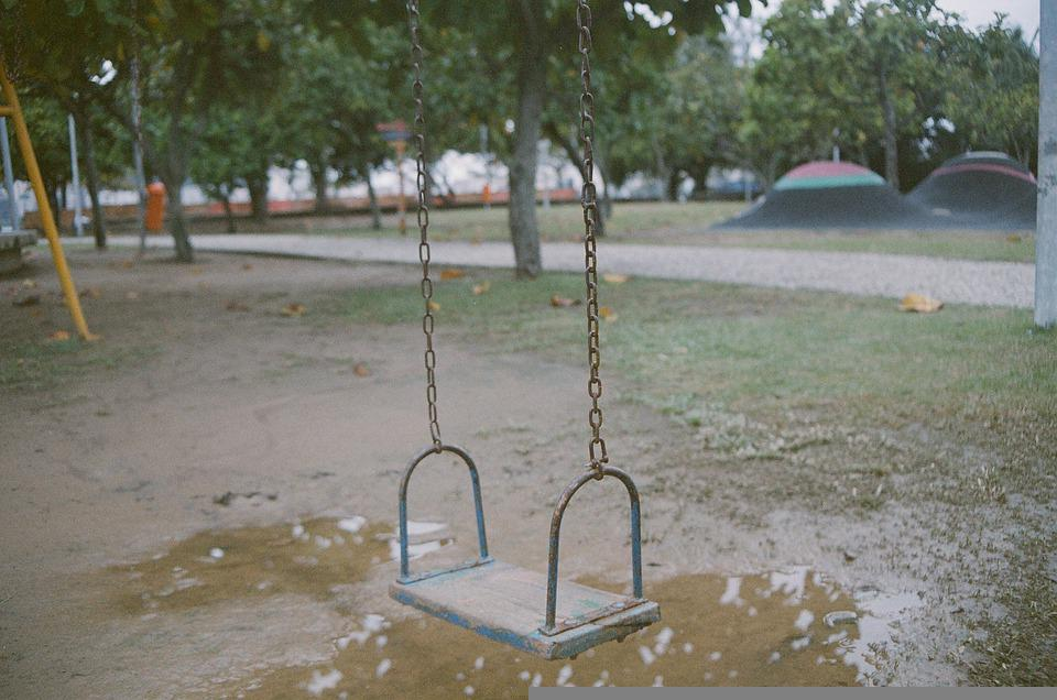 Isolation, Swing, Park, Playground, Loneliness