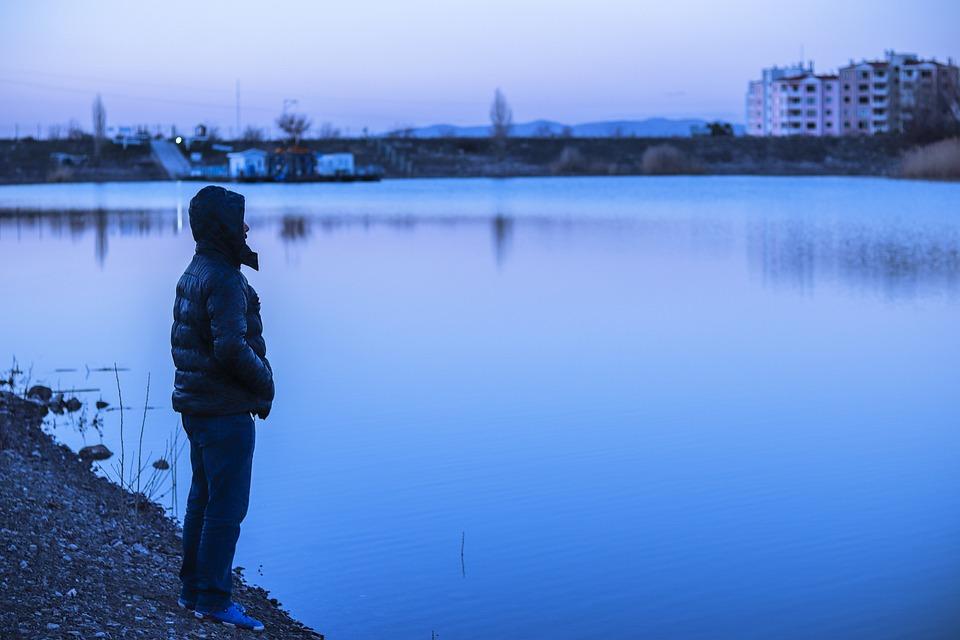 Bilkent, Lake, Lonely, Water, Boy, Loneliness, Sea