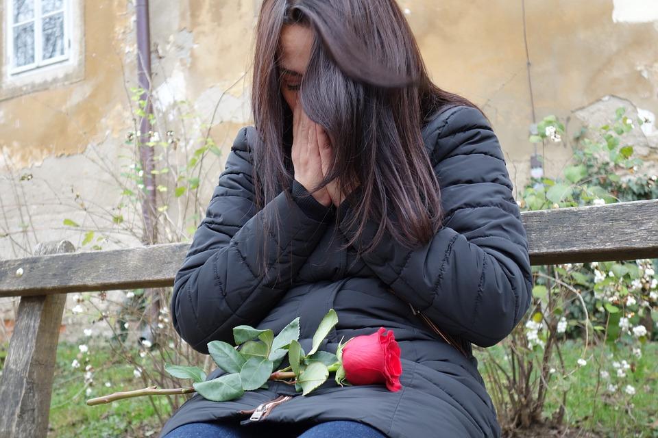 Sad Girl, Red Rose, Lost Love, Lonely, Depressive