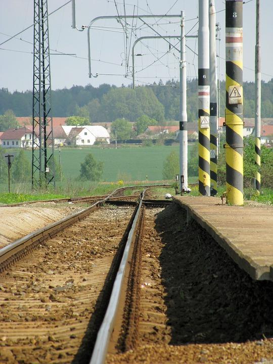 Railway, Seemed, Platform, Lonely, Track, Summer