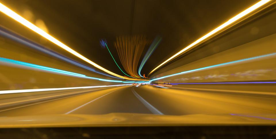 Lights, Stelae, Tunnel, Color, Speed, Long Exposition