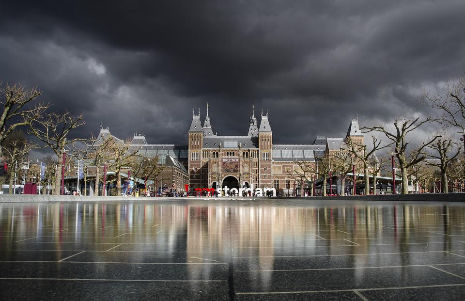 Amsterdam, Museum, Rijksmuseum, Weather, Long Exposure