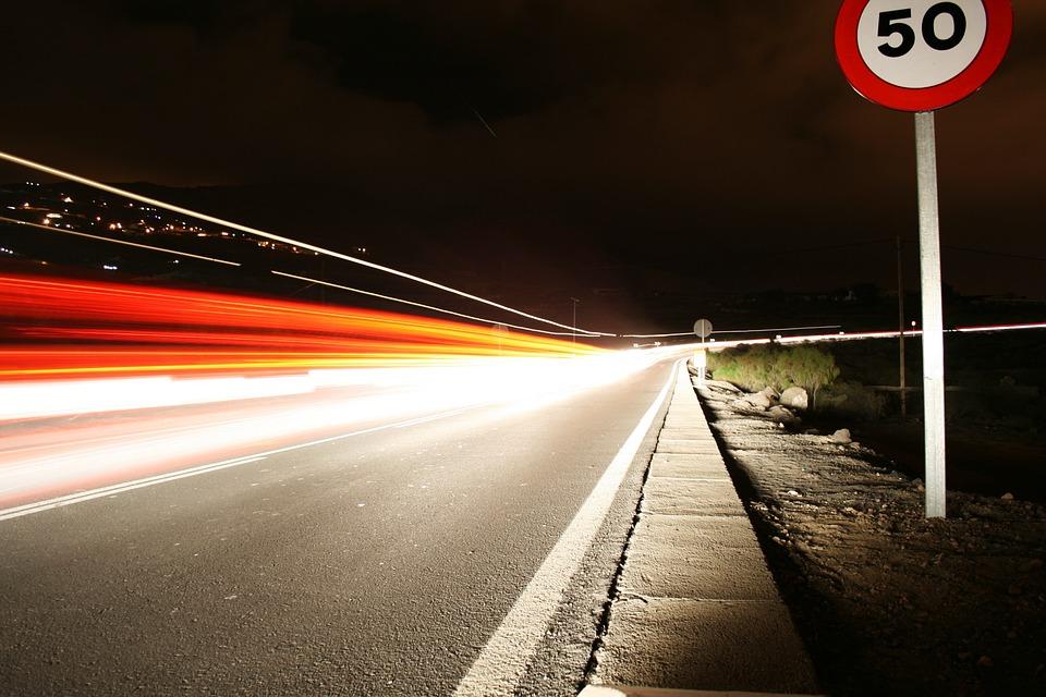 Adeje, Tenerife, Night, Long Exposure, Highway