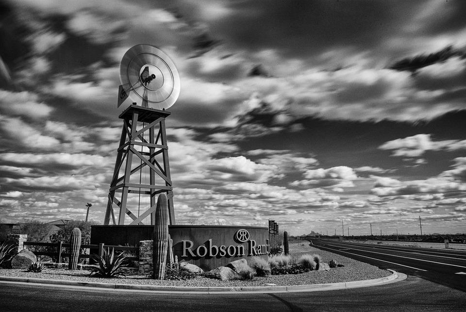 Long Exposure, Windmill, Robson Ranch, Eloy Az, Arizona