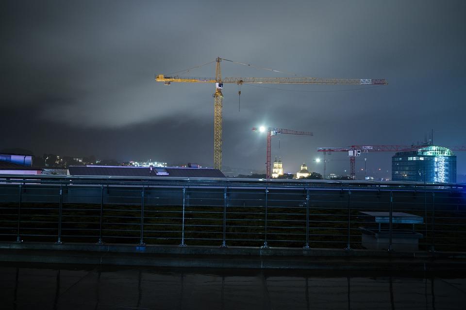 Kempten, Skyline, Darkness, Long Exposure