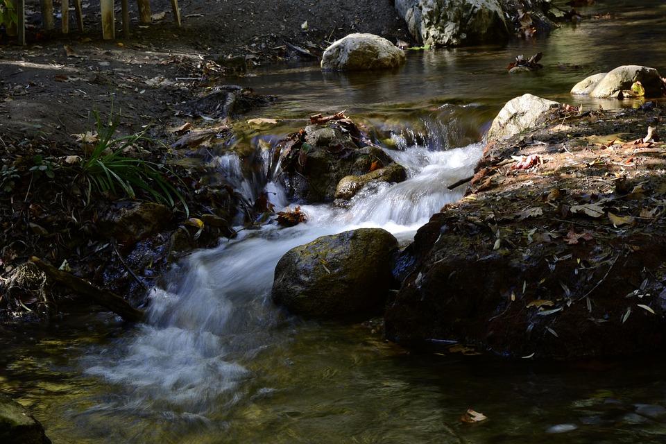 Water, Long Exposure, Rocks, Flowing Water, Waterfall
