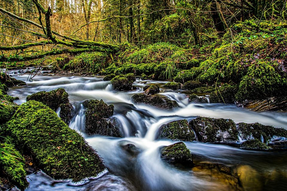 Water, Long Exposure, Mystical, Waterfall, Nature