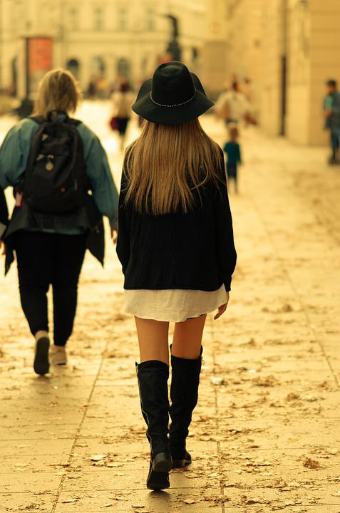 Girl, Young, Person, Blonde, Hair, Long, Hat, Fashion