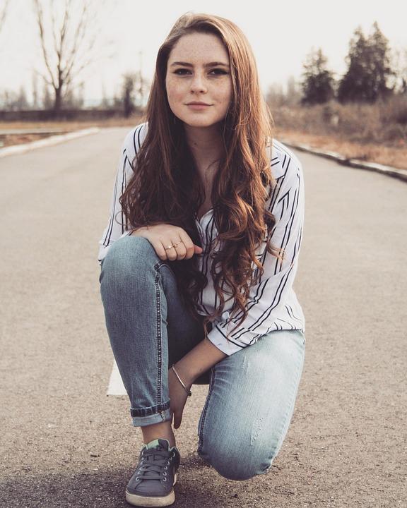 Girl, Road, Long Hair