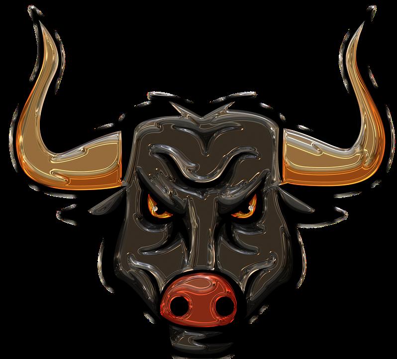 Bull, Longhorn, Metallizer, Art, Glass, Factory