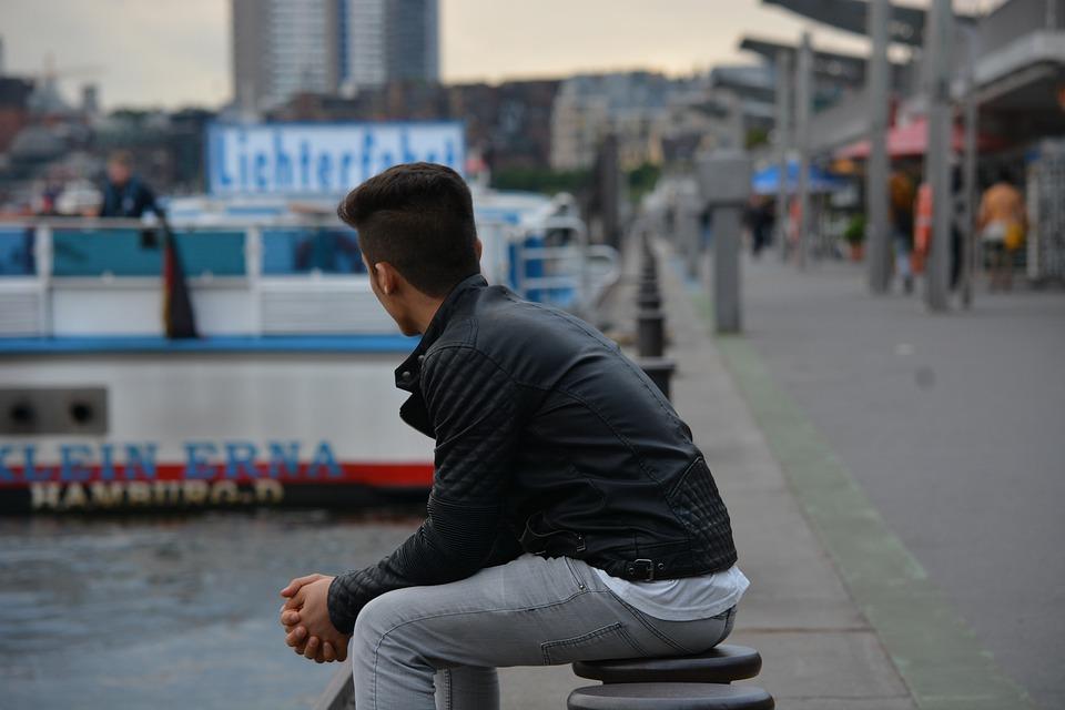 Refugee, Hamburg, Longing, Port, Ferry, Wide World