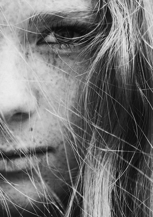 Close-up, Face, Freckles, Girl, Hair, Woman, View, Look