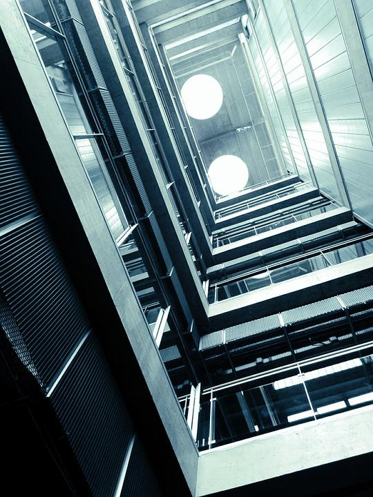 Building, Stairs, Architecture, Look Up, Indoor