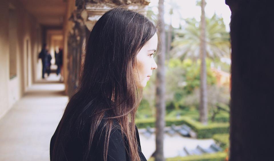 Girl, Woman, Looking, Brunette, Long Hair, People