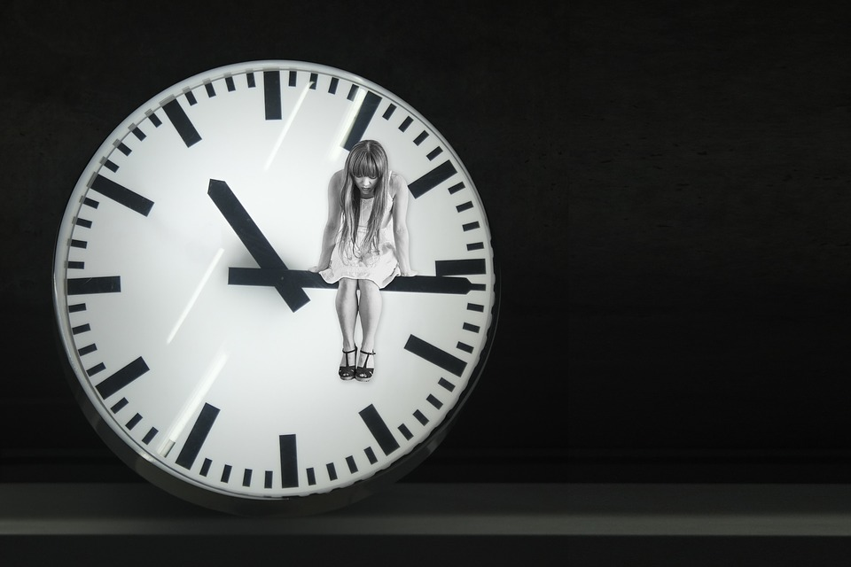 Clock, Hands, Time, Sad, Depressed, Looking Down