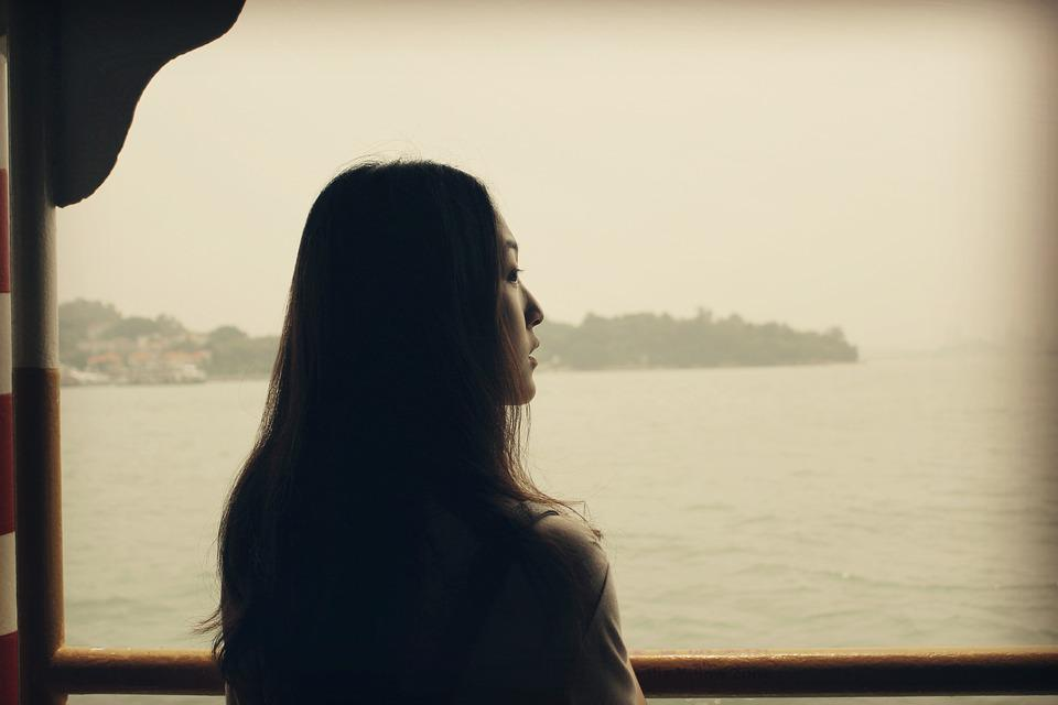 Looking Forward To, Sea, Woman, Girls, Long Hair, Sail