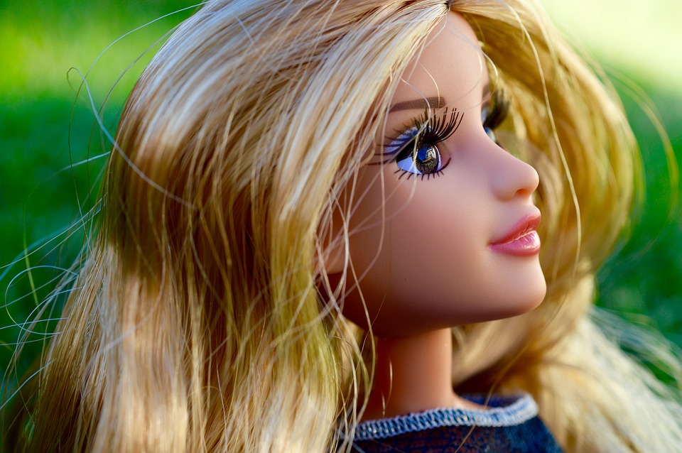 Doll, Face, Blonde, Toy, Hair, Eyelashes, Looking