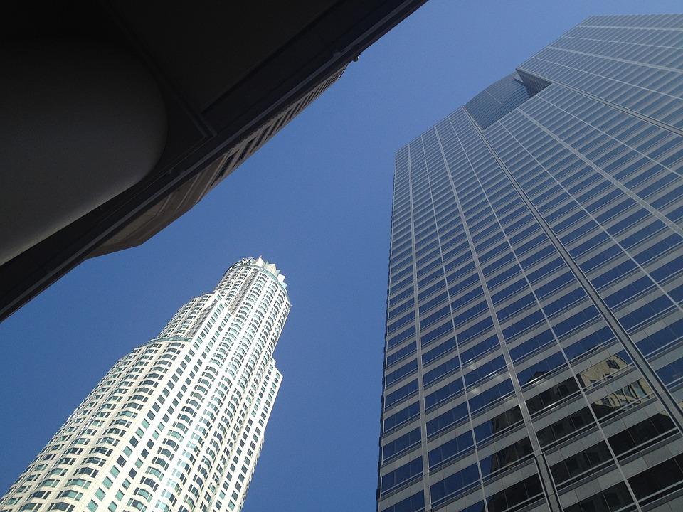 Los Angeles, La, Skyscrapers, City, Windows