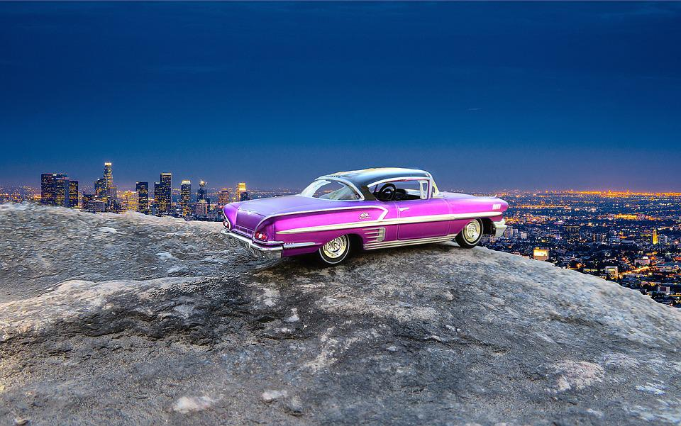 Free photo Los Angeles Overlook 1966 Car Chevrolet Impala - Max Pixel