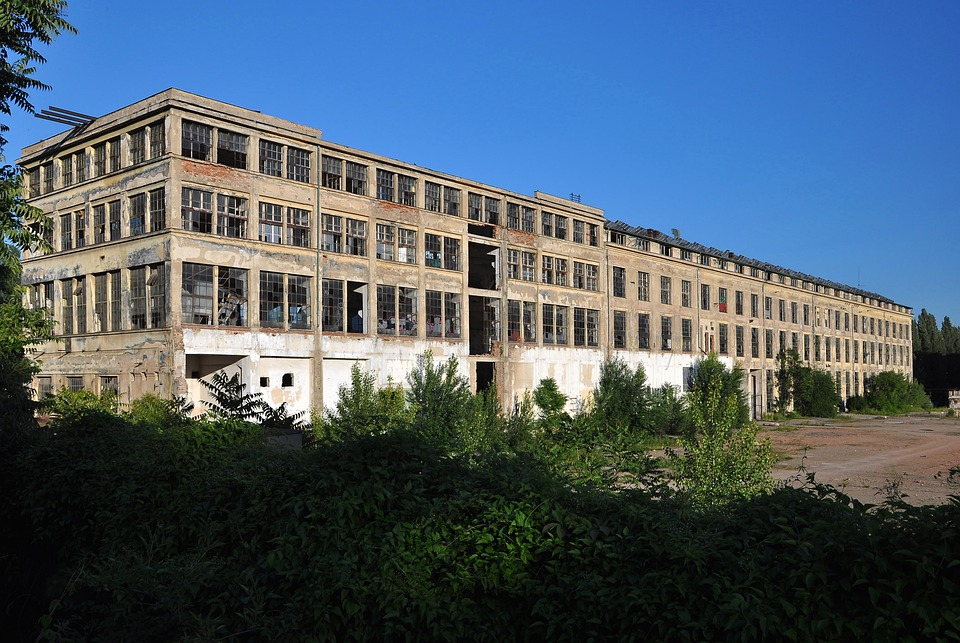 Old Factory, Brownfield, Building, Lost Places