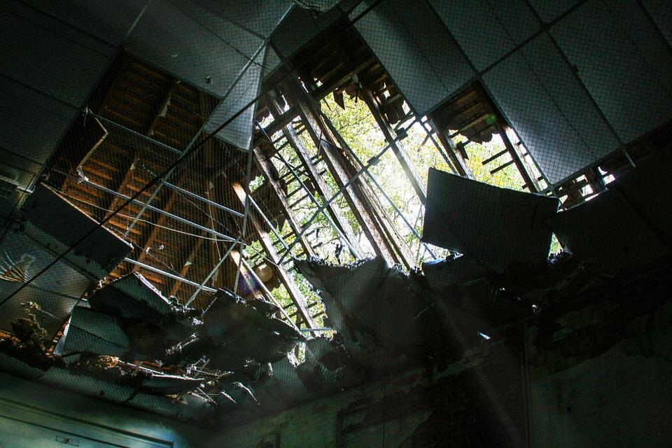 Lost Places, Broken, Roof, Old, Building, Lapsed