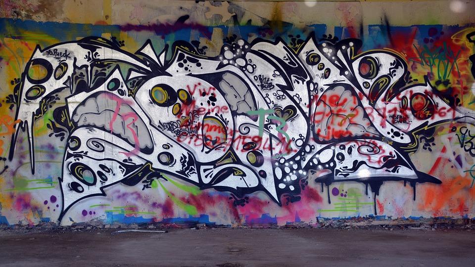 Lost Places, Graffiti, Ruin, Industrial Building, Leave