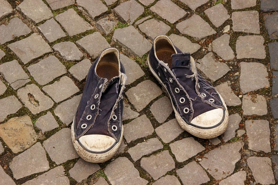 Converse, Shoes, Adrift, Lost, Sneakers, Road