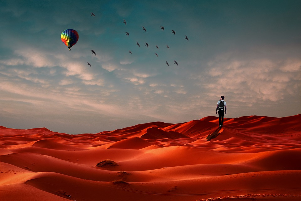 Lost, Alone, Desert, Young