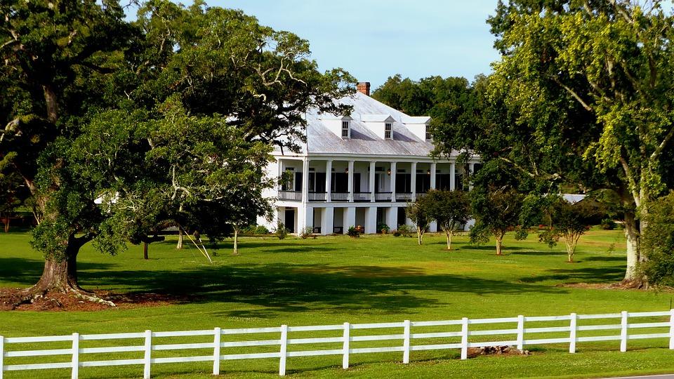 Architecture, Plantation, Louisiana, Trees, Prairie