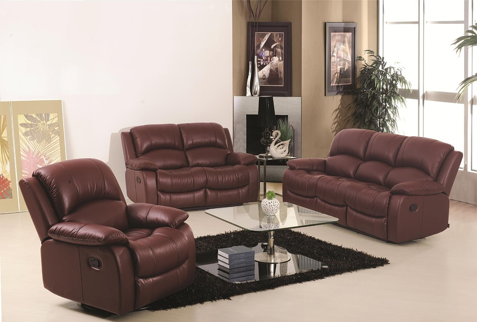 Sofa, Three Pc Sofa, Leather Sofa, Lounge Suite