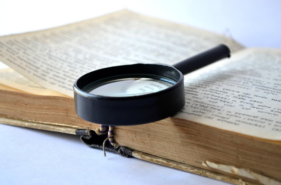 Magnifier, Magnifying Glass, Loupe, Book, Dictionary
