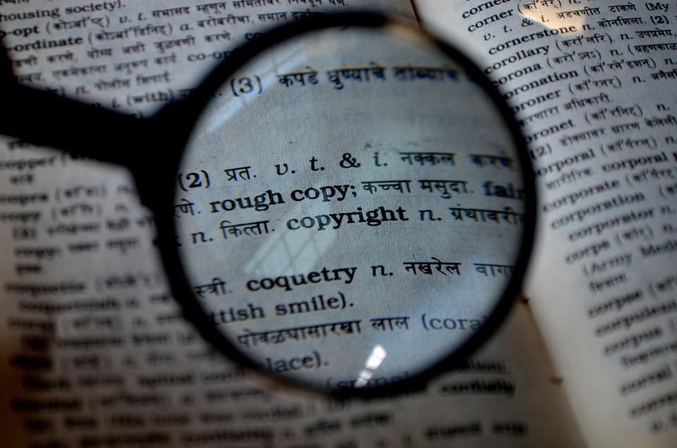 Copyright, Magnifier, Magnifying Glass, Loupe, Book