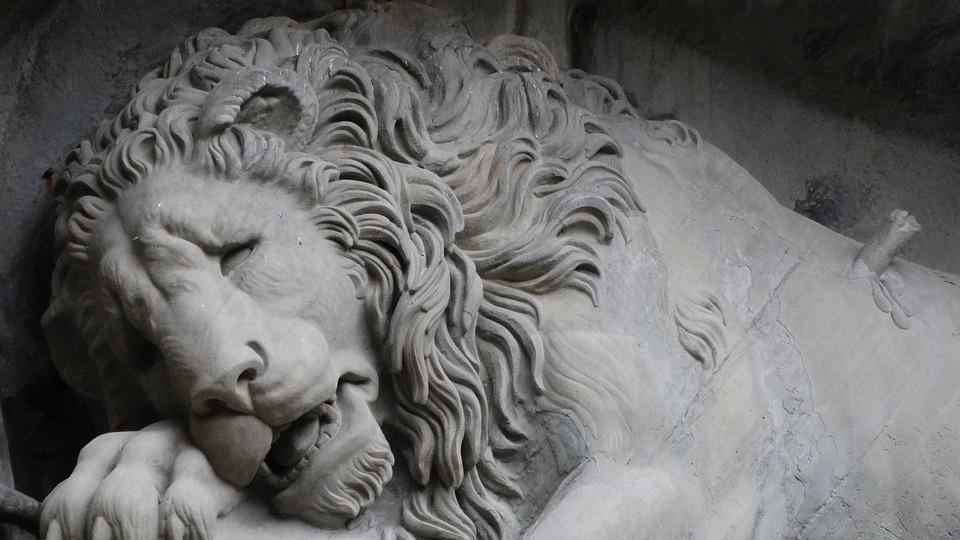 Wounded Lion, Monument, Louver, Switzerland