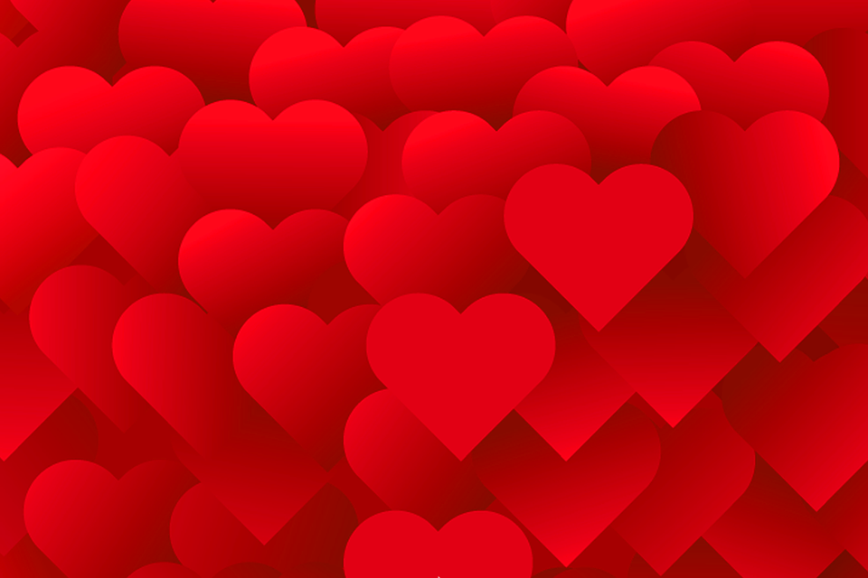 Heart Background, Romantic Background, Love Background